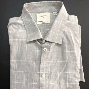 Loose, Airy L/S Light Gray Check XL Shirt ITALY